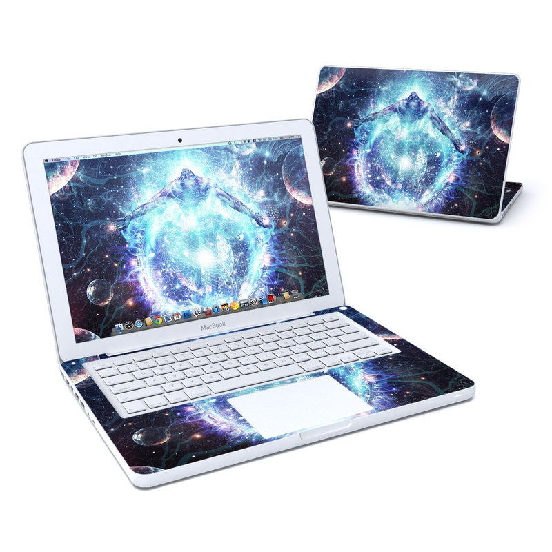 Old MacBook 13-inch Skin design of Outer space, Astronomical object, Universe, Space, Sky, Atmosphere, Fractal art, Nebula, Science, Star with blue, black, red, yellow, white colors