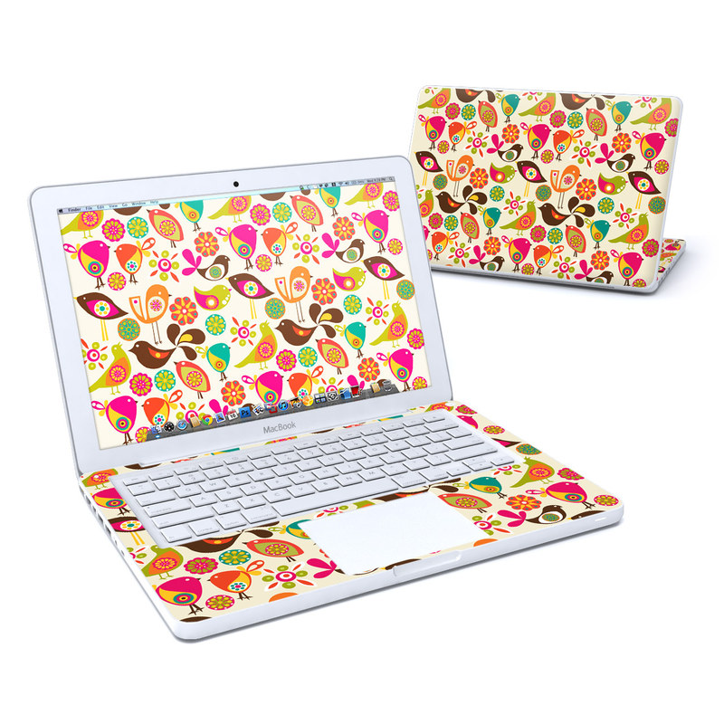 Bird Flowers MacBook 13-inch Skin