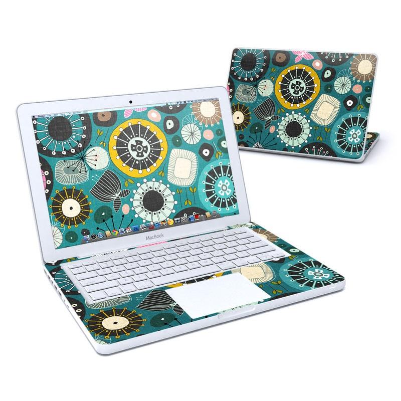 Blooms Teal MacBook 13-inch Skin