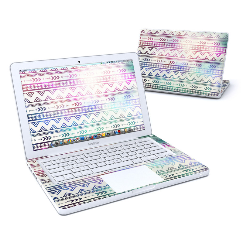 Old MacBook 13-inch Skin design of Pattern, Line, Teal, Design, Textile with gray, pink, yellow, blue, black, purple colors
