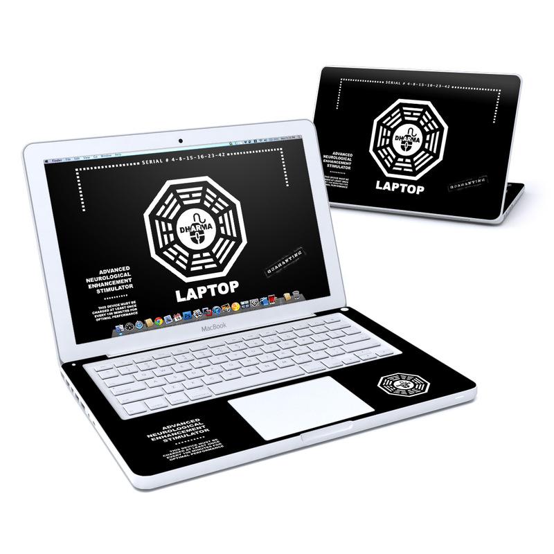 Dharma Black Old MacBook 13-inch Skin