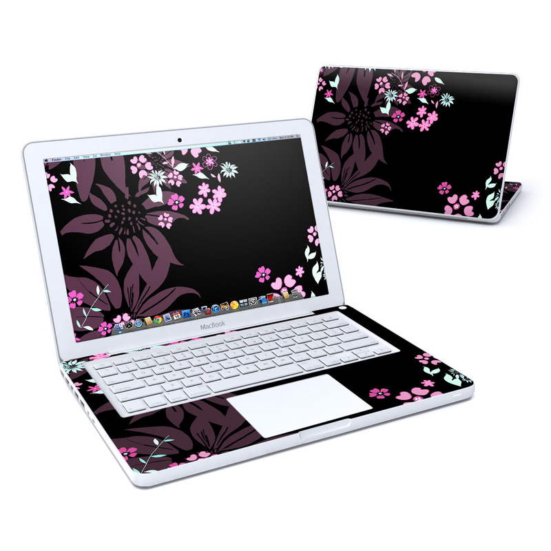Dark Flowers MacBook 13-inch Skin