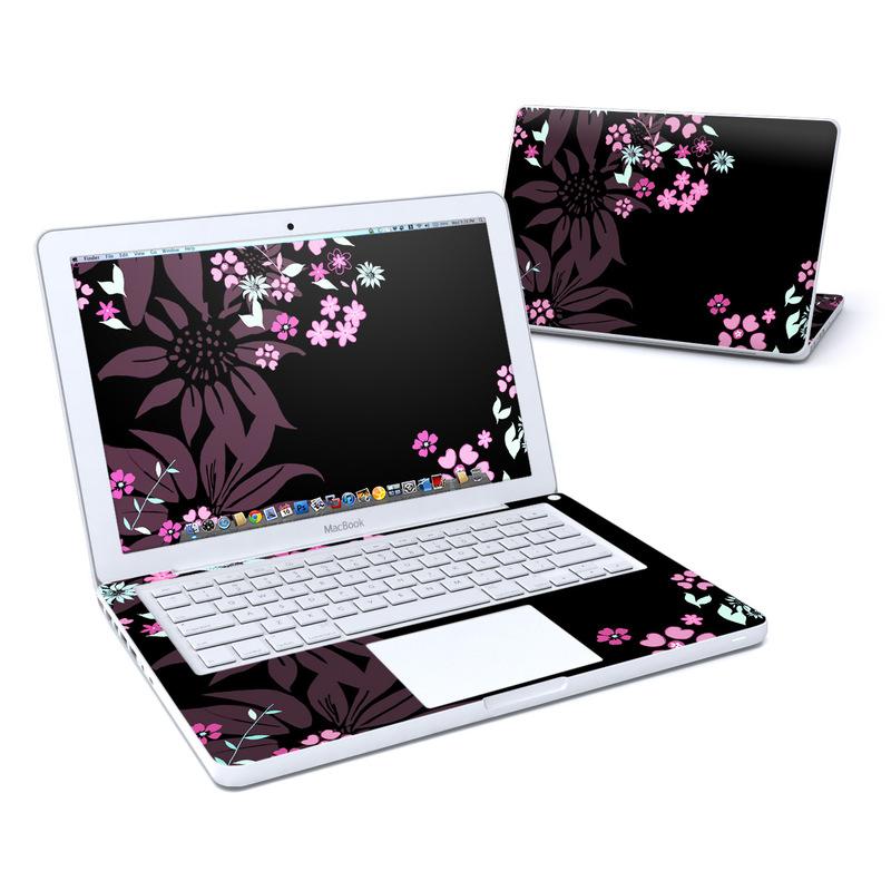 Dark Flowers MacBook 13-inch Skin