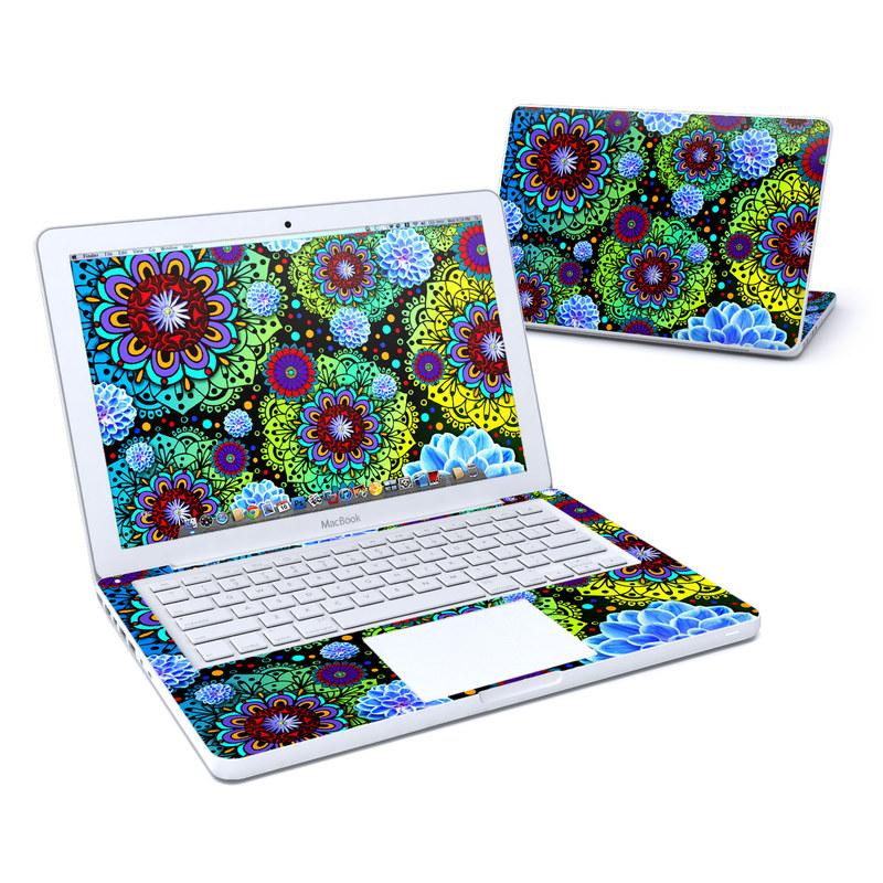 Funky Floratopia MacBook 13-inch Skin