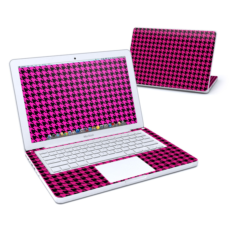 Pink Houndstooth MacBook 13-inch Skin