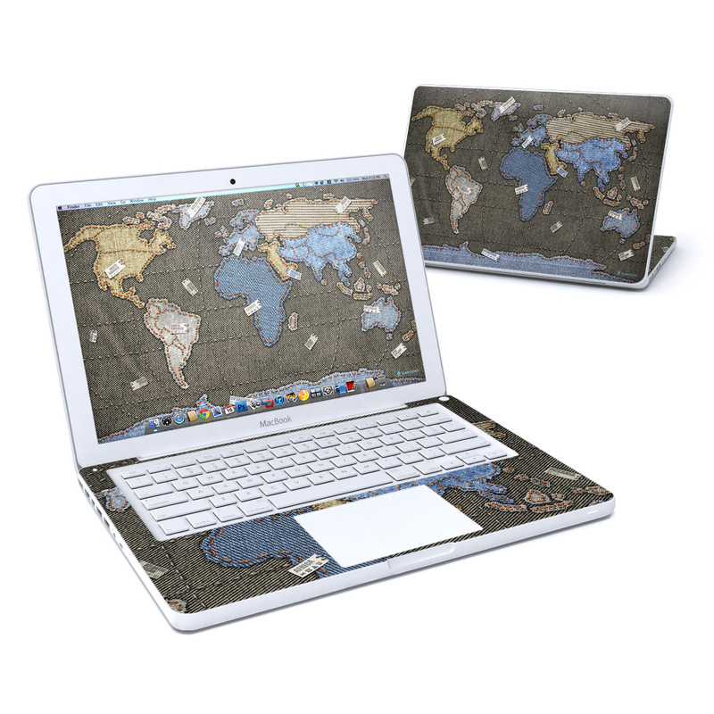 Jean Map Old MacBook 13-inch Skin