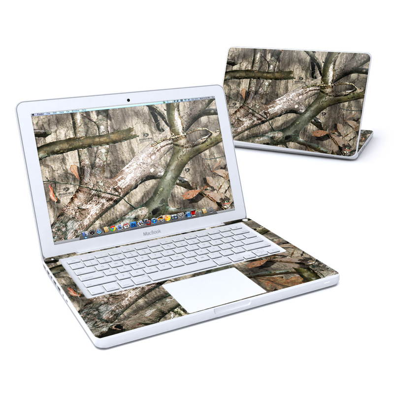 Old MacBook 13-inch Skin design of Tree, Branch, Plant, Woody plant, Trunk, Adaptation, Twig, Wood, Plant stem with black, gray, green, red colors