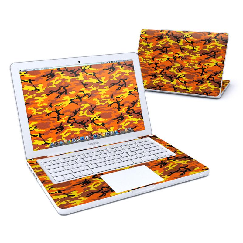 Orange Camo Old MacBook 13-inch Skin