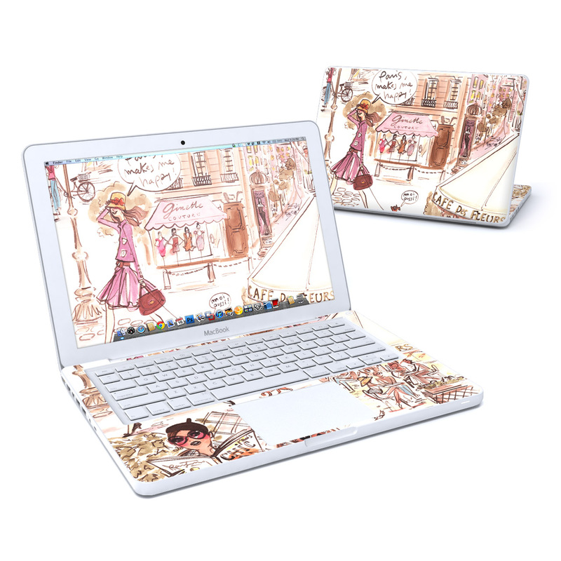 Paris Makes Me Happy Old MacBook 13-inch Skin