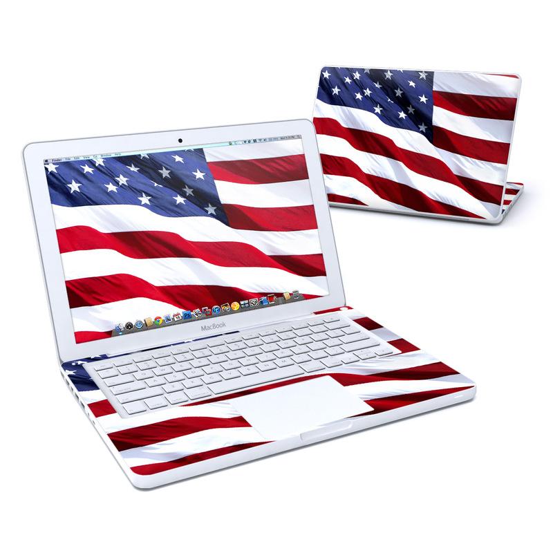 Patriotic Old MacBook 13-inch Skin