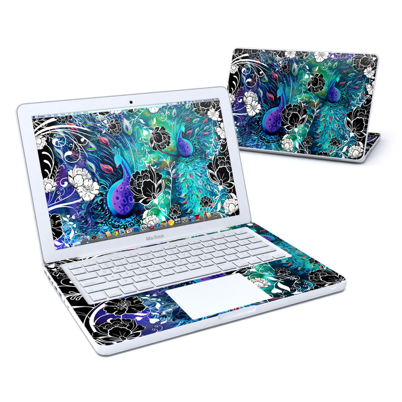 Peacock Garden Old MacBook 13-inch Skin