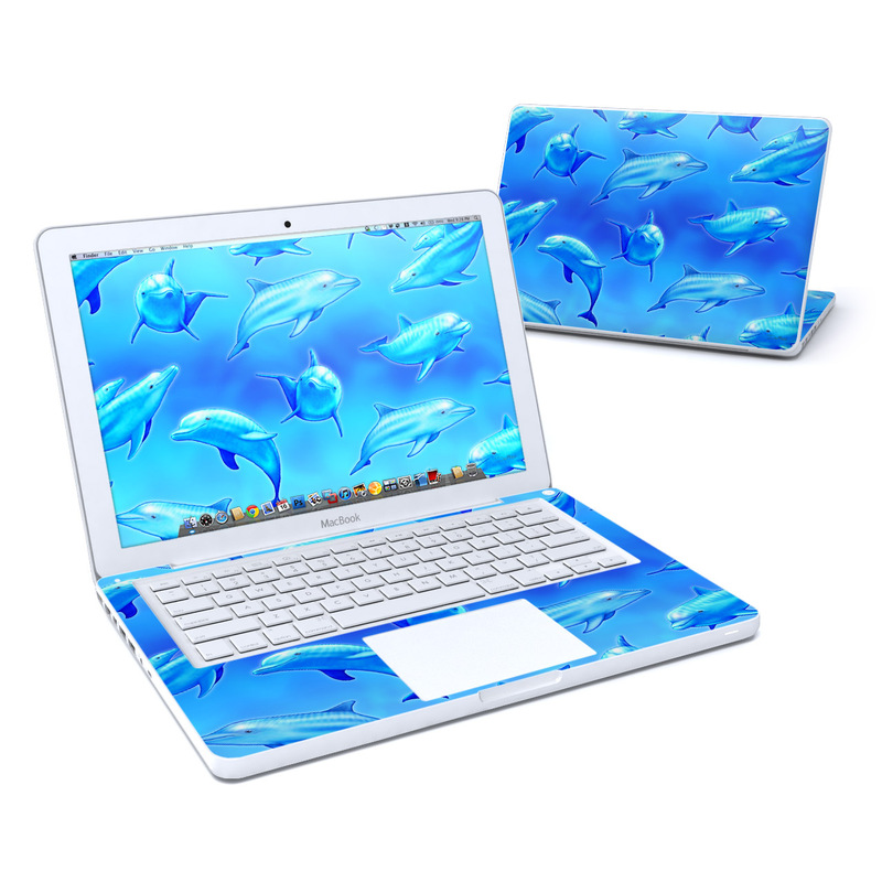 Swimming Dolphins Old MacBook 13-inch Skin