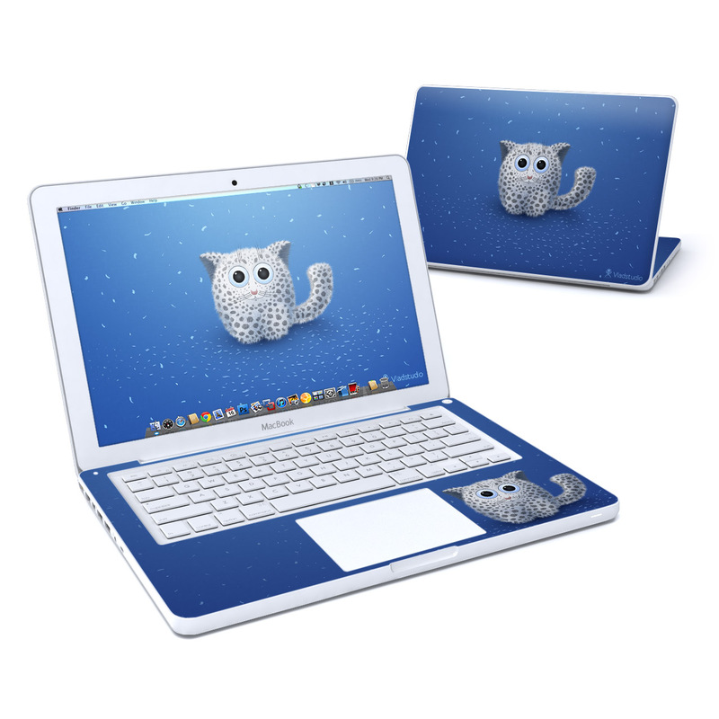 Old MacBook 13-inch Skin design of Owl, Snowy owl, Blue, Bird of prey, Sky, Bird, Organism, Snout, Space with blue, gray, black colors
