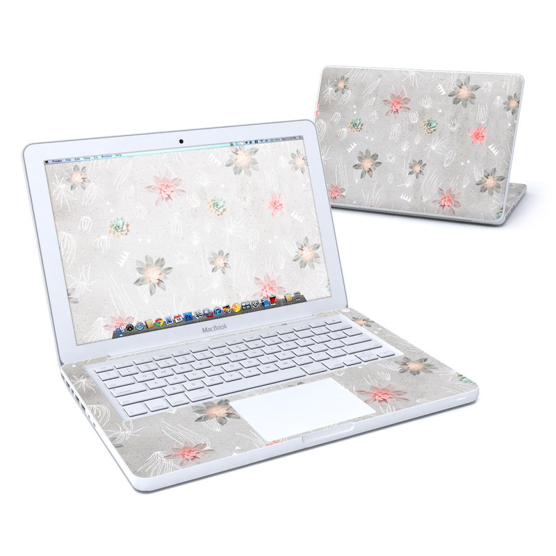 Old MacBook 13-inch Skin design of Pink, Pattern, Wrapping paper, Textile, Design, Wallpaper, Floral design, Plant, Flower with gray, red, white, pink colors