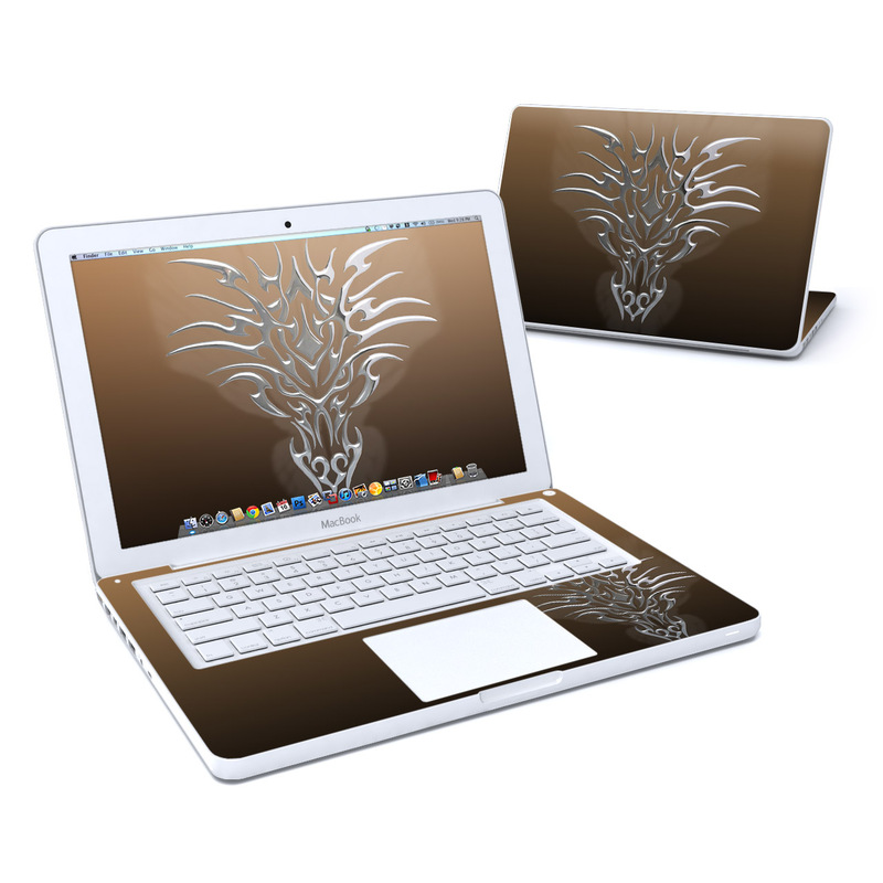 Tribal Dragon Chrome MacBook 13-inch Skin