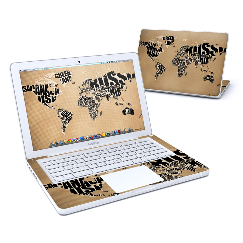 Type Map Old MacBook 13-inch Skin