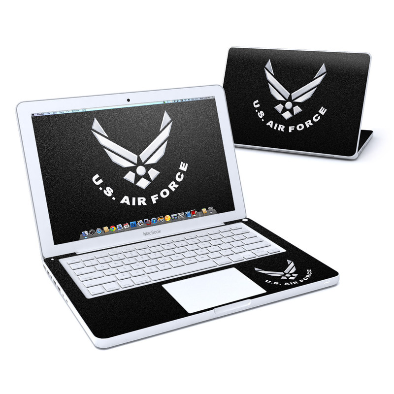 USAF Black MacBook 13-inch Skin