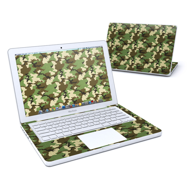 Woodland Camo MacBook 13-inch Skin