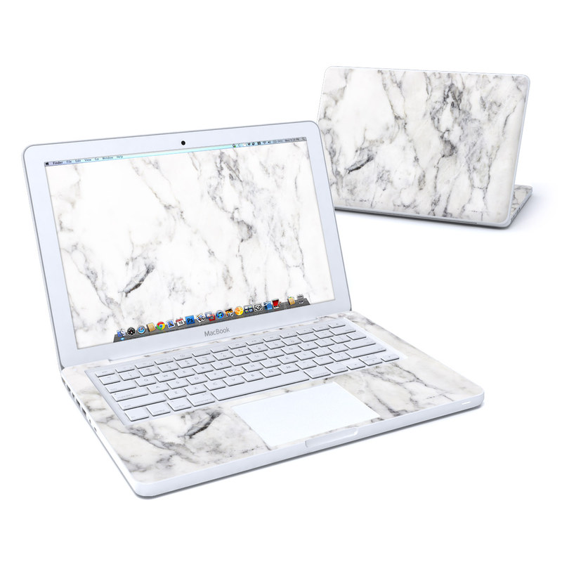 Old MacBook 13-inch Skin design of White, Geological phenomenon, Marble, Black-and-white, Freezing with white, black, gray colors