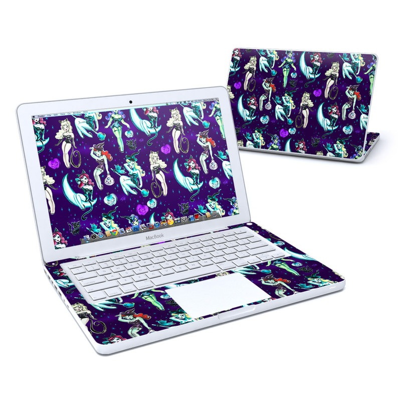 Witches and Black Cats Old MacBook 13-inch Skin