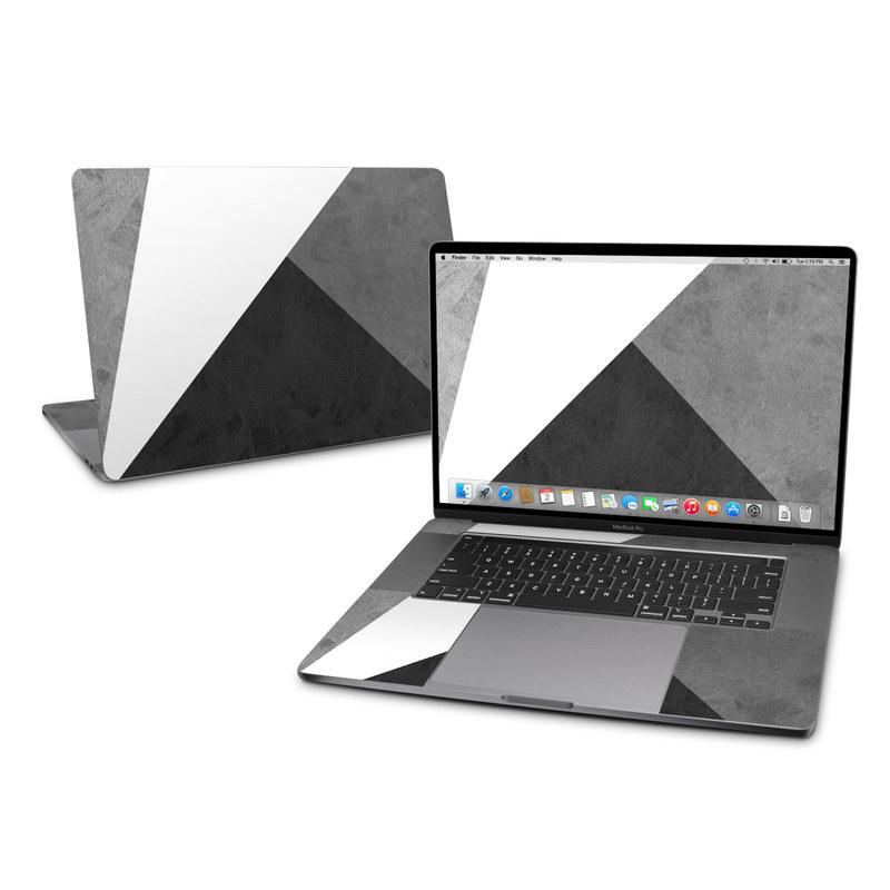 MacBook Pro 16-inch Skin design of Black, White, Black-and-white, Line, Grey, Architecture, Monochrome, Triangle, Monochrome photography, Pattern with white, black, gray colors