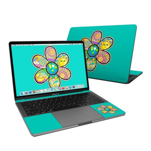 Peace Flower MacBook Pro 13-inch Skin