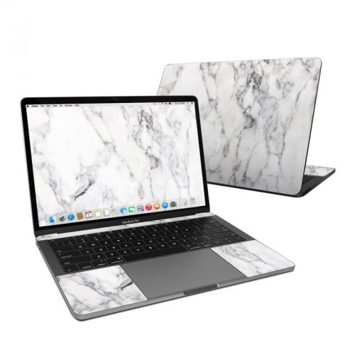White Marble MacBook Pro Pre 2020 13-inch Skin
