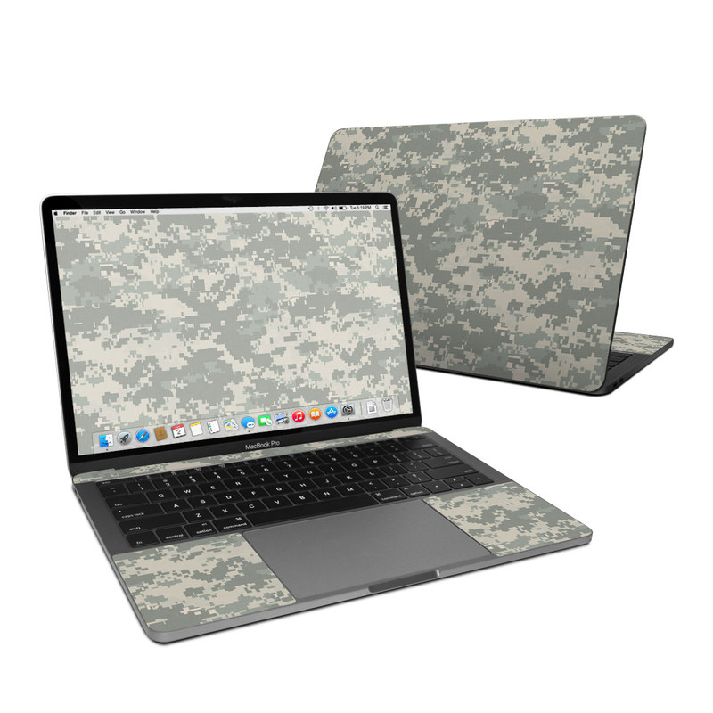 MacBook Pro Pre 2020 13-inch Skin design of Military camouflage, Green, Pattern, Uniform, Camouflage, Design, Wallpaper with gray, green colors