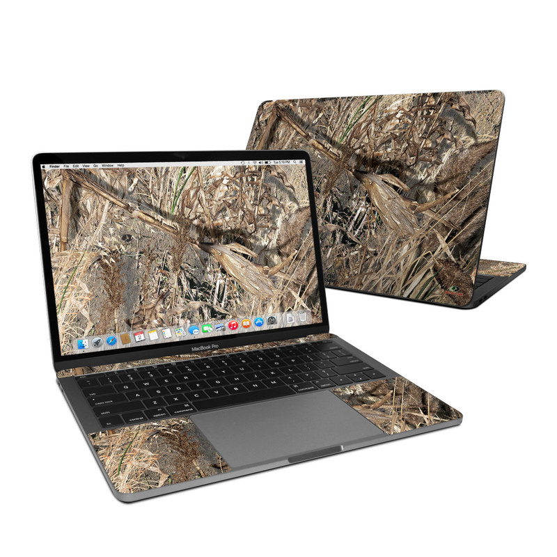 MacBook Pro Pre 2020 13-inch Skin design of Soil, Plant with black, gray, green, red colors