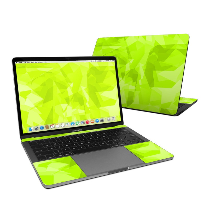 MacBook Pro Pre 2020 13-inch Skin design with green colors