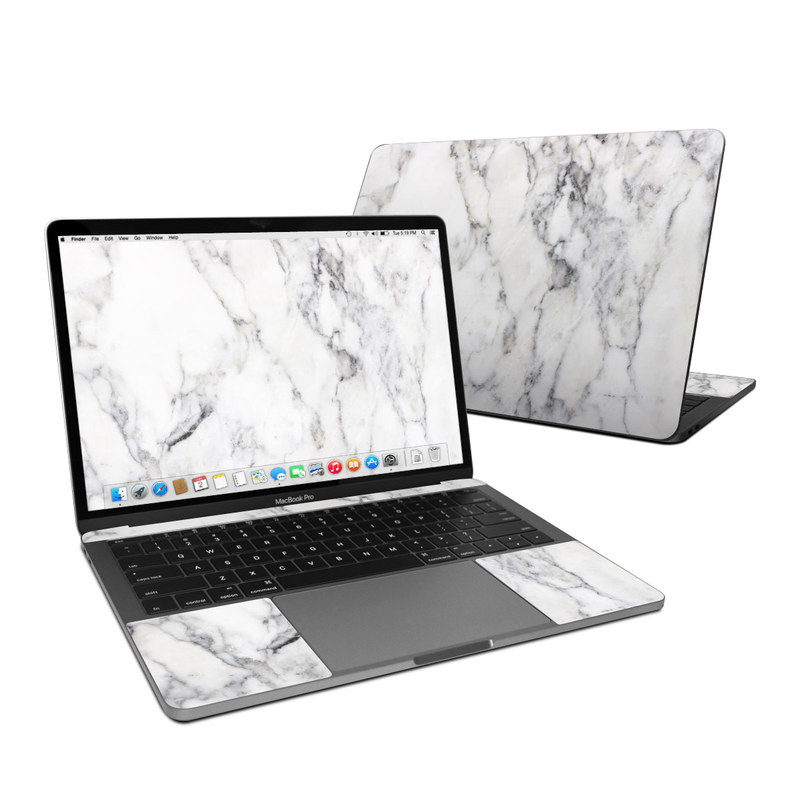 MacBook Pro 13-inch Skin design of White, Geological phenomenon, Marble, Black-and-white, Freezing with white, black, gray colors