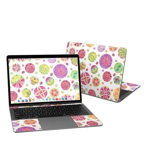 Round Flowers MacBook Air Pre 2020 13-inch Skin