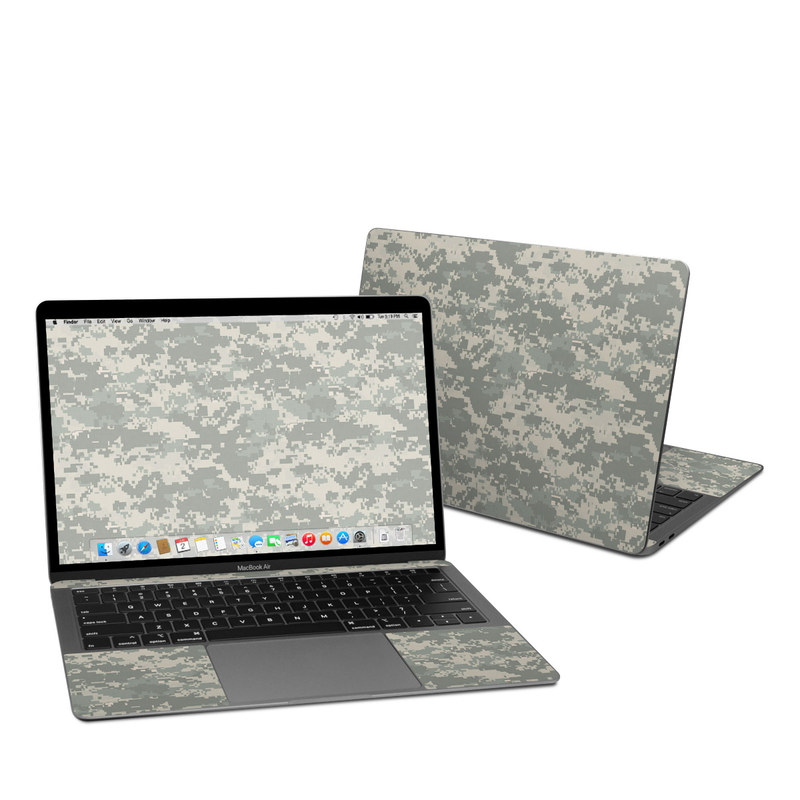 MacBook Air 13-inch Skin design of Military camouflage, Green, Pattern, Uniform, Camouflage, Design, Wallpaper with gray, green colors