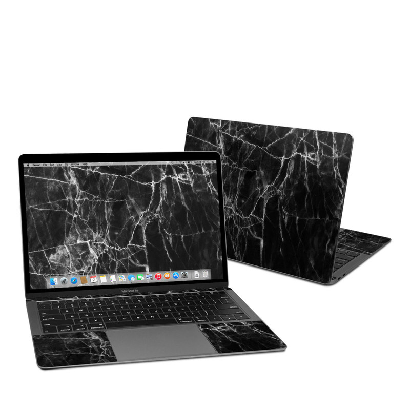 MacBook Air 13-inch Skin design of Black, White, Nature, Black-and-white, Monochrome photography, Branch, Atmosphere, Atmospheric phenomenon, Tree, Sky with black, white colors