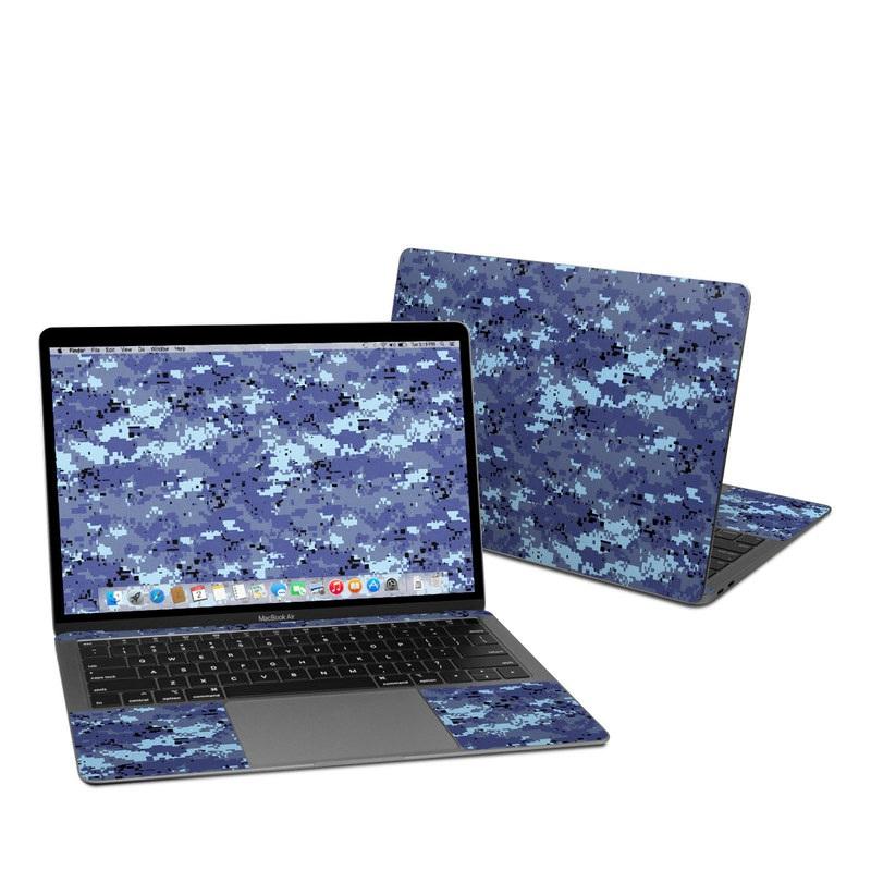 MacBook Air Pre 2020 13-inch Skin design of Blue, Purple, Pattern, Lavender, Violet, Design with blue, gray, black colors