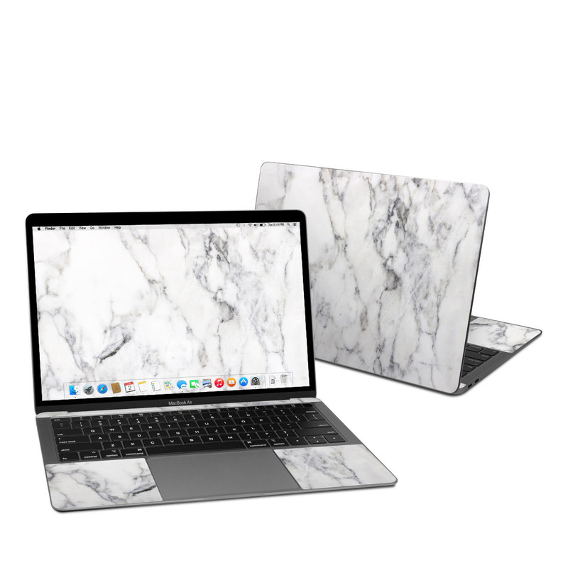 MacBook Air Pre 2020 13-inch Skin design of White, Geological phenomenon, Marble, Black-and-white, Freezing with white, black, gray colors