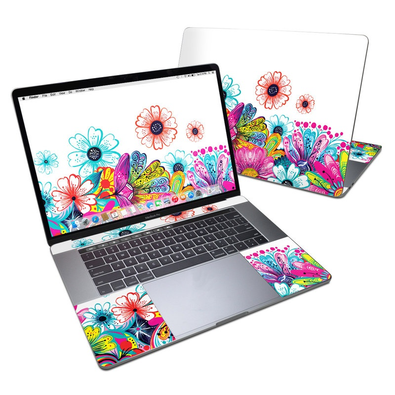 Intense Flowers MacBook Pro 15-inch Skin