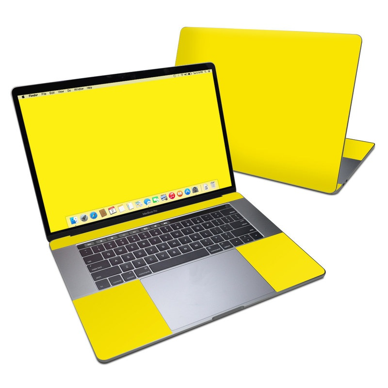 MacBook Pro 15-inch Skin design of Green, Yellow, Orange, Text, Font with yellow colors