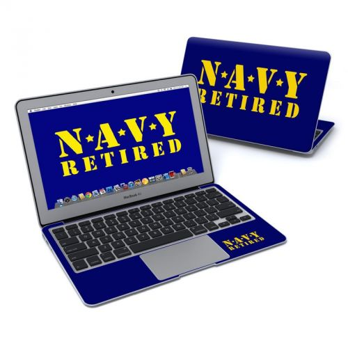 Navy Retired MacBook Air Pre 2018 11-inch Skin