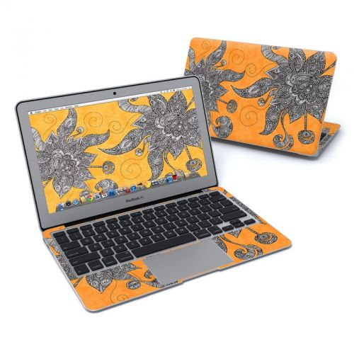 Orange Flowers MacBook Air Pre 2018 11-inch Skin