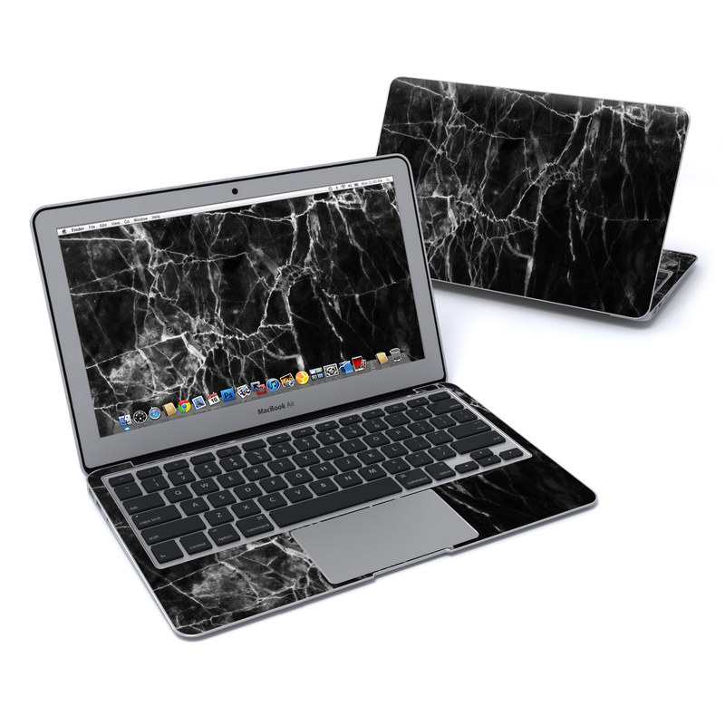 Black Marble MacBook Air Pre 2018 11-inch Skin