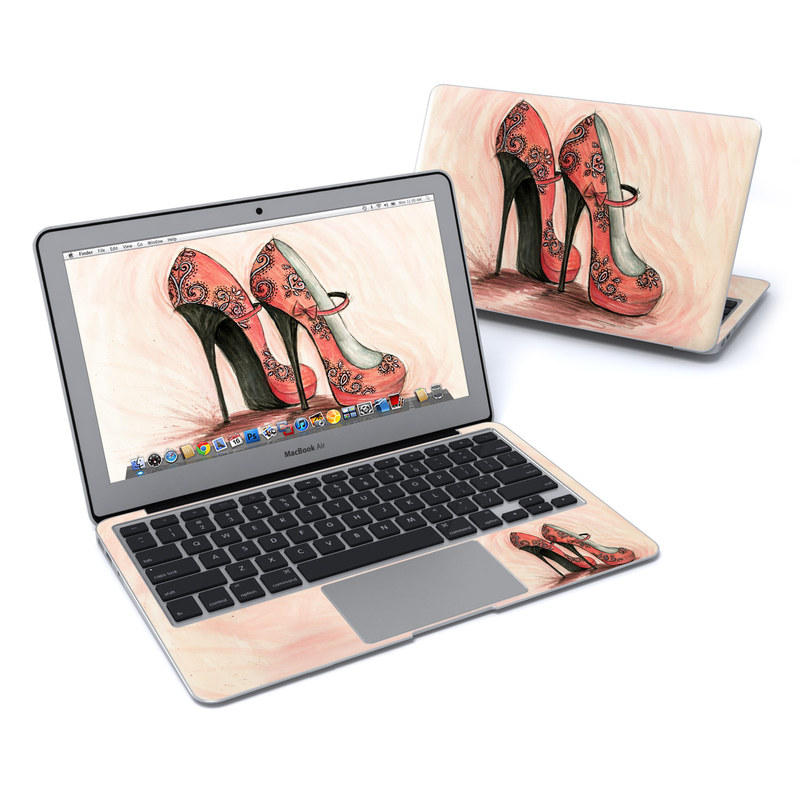 Coral Shoes MacBook Air 11-inch Skin