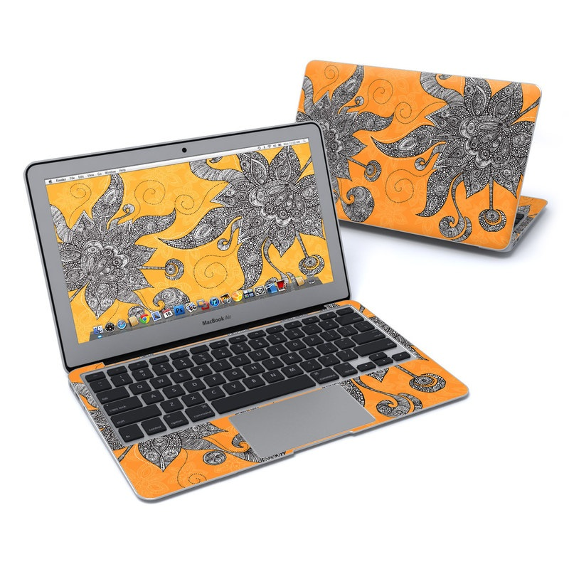 Orange Flowers MacBook Air 11-inch Skin