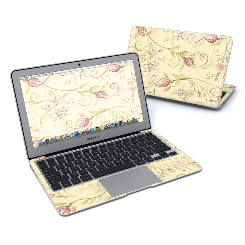 Tulip Scroll MacBook Air Pre 2018 11-inch Skin