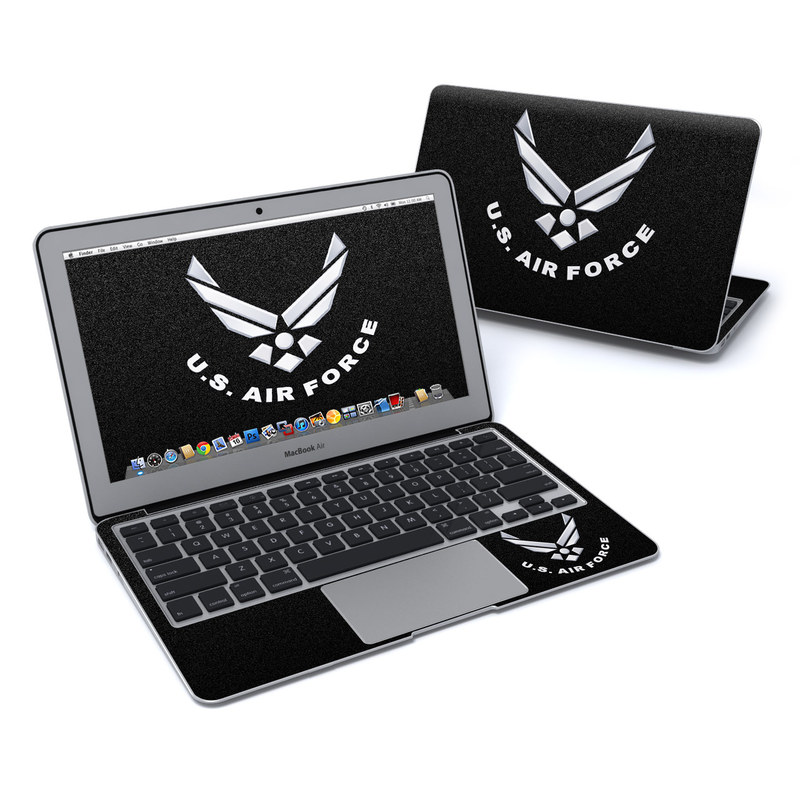 USAF Black MacBook Air Pre 2018 11-inch Skin