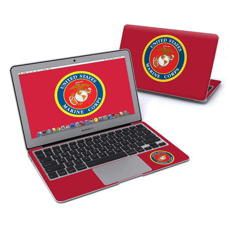 MacBook Air Pre 2018 11-inch Skin design of Emblem, Logo, Badge, Symbol, Circle, Crest, Trademark, Brand with red, blue, black, green, orange, gray colors