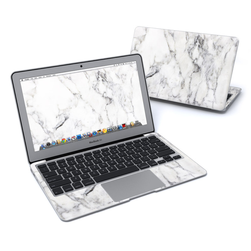 MacBook Air Pre 2018 11-inch Skin design of White, Geological phenomenon, Marble, Black-and-white, Freezing with white, black, gray colors