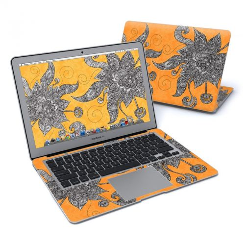 Orange Flowers MacBook Air Pre 2018 13-inch Skin
