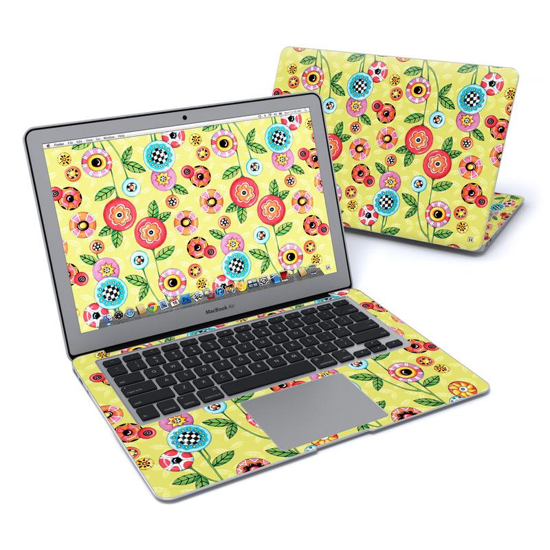 Button Flowers MacBook Air 13-inch Skin