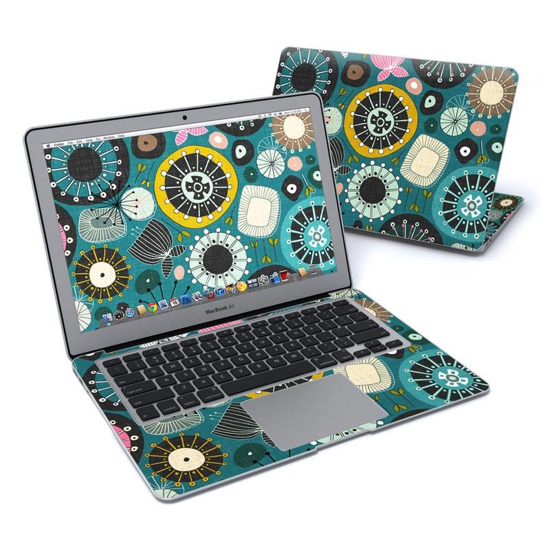 Blooms Teal MacBook Air 13-inch Skin